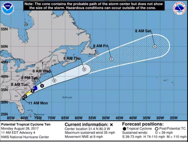 热带风暴厄马很快形成 专家对北卡罗来纳州离岛发警告_图1-4