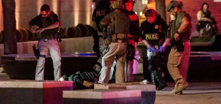 震惊   枪声响起,美国警察被爆头